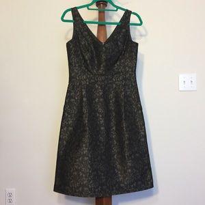 Escada Fit and Flare Jacquard Dress